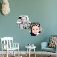muursticker hexagon kinderkamer
