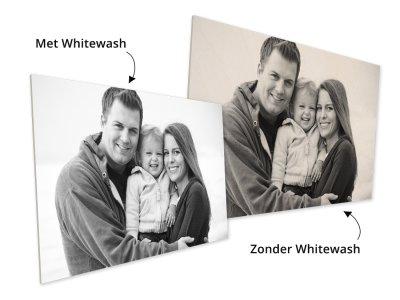 Foto op multiplex met whitewash of zonder