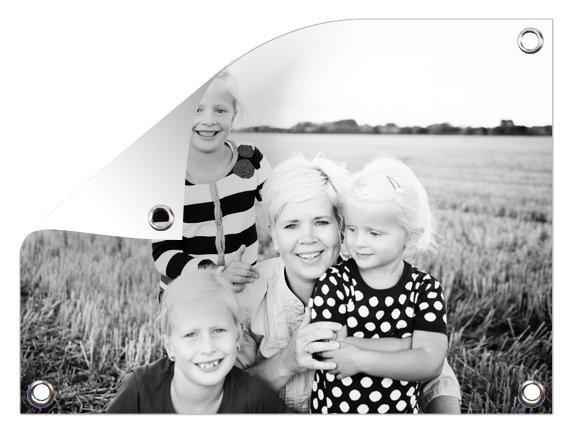 familiefoto op tuinposter