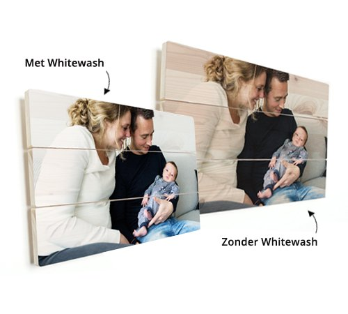 Foto op vurenhout whitewash
