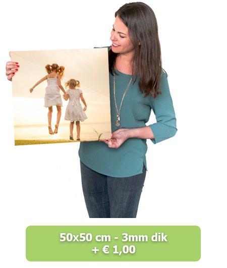 Foto op glas 50x50